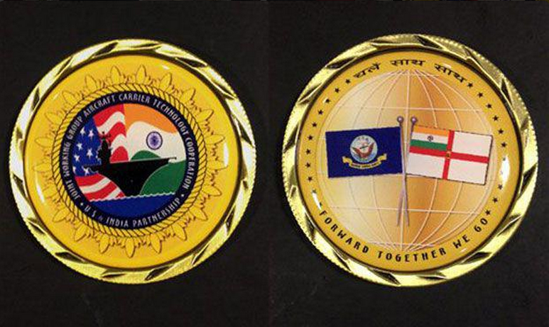 India, US create 'joint challenge coin' to mark aircraft carrier