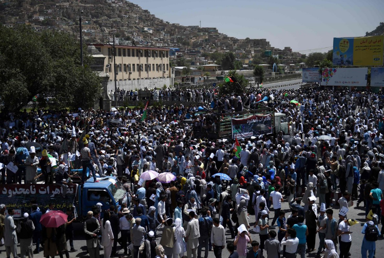 Kabul, Afghanistan, 10 dead, blast, explosion, protest march