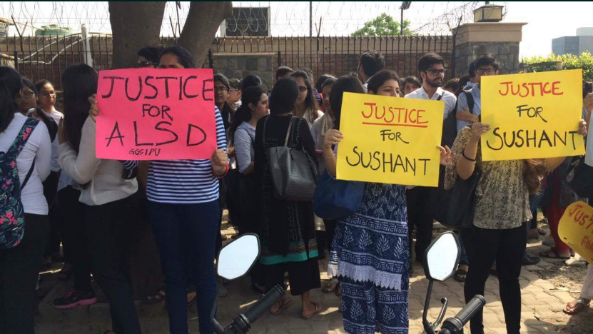 Amity Law School, suicide, protest, noida