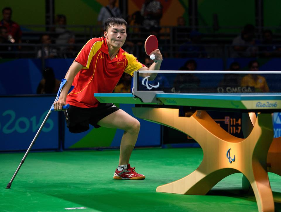 Shuo Yan CHN wins 3-1 against MORALES GARCIA Jordi Morales Garcia ESP in the Men's Singles - Class 7 Bronze Medal Match