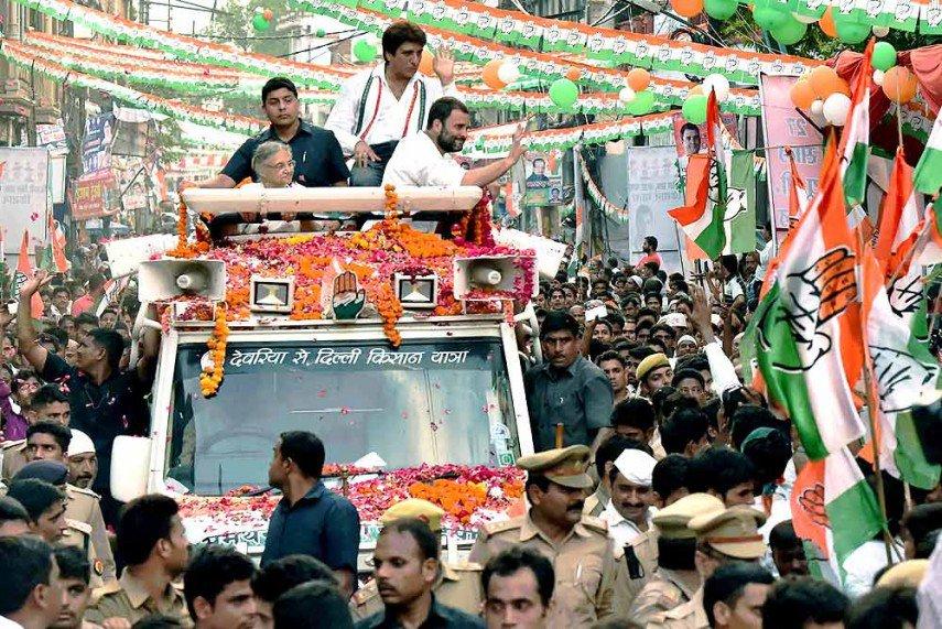 protest, roadshow , Sitapur., shoe, Rahul Gandhi, Uttar Pradesh,
