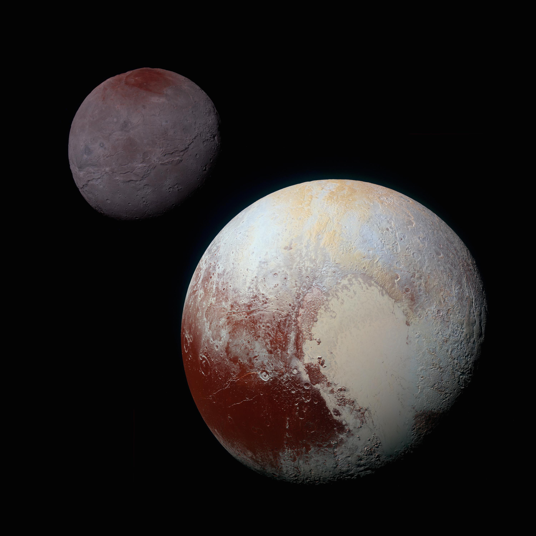 Pluto, Charon, tholins, methane gas, NASA, moon, hydrocarbons