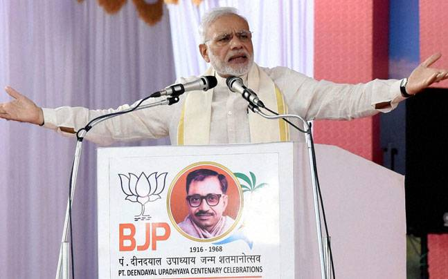Jan Sangh, nationalism , Kozhikode, BJP Council meet, Muslims , Deen Dayal Upadhyay, secularism, Narendra Modi,