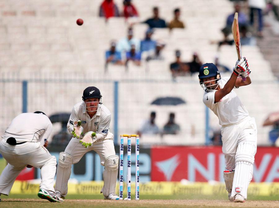 Wriddhiman Saha, Cheteshwar Pujara, Eden Gardens, India, second cricket Test, New Zealand,