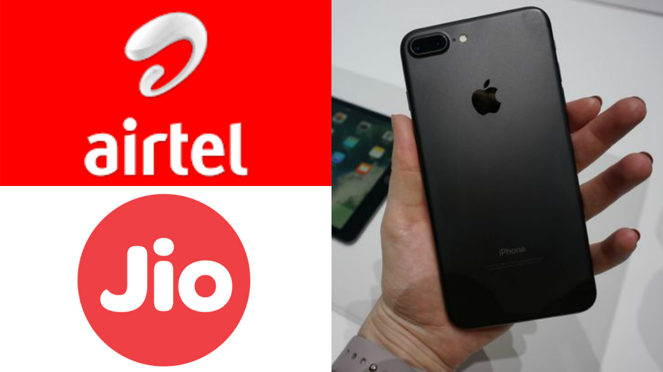 Bharti Airtel, Airtel Infinity Postpaid plan, JioNet Hotspot, Free Welcome Offer, Apple Authorized Resellers, Apple Premium Resellers , Reliance Digital stores, iPhone S, iPhone 6s, iPhone 6s Plus, Jio Digital Services, 4G data, Reliance Jio, Airtel, Jet Black colour, Apple iPhone 7, iPhone 7 Plus,
