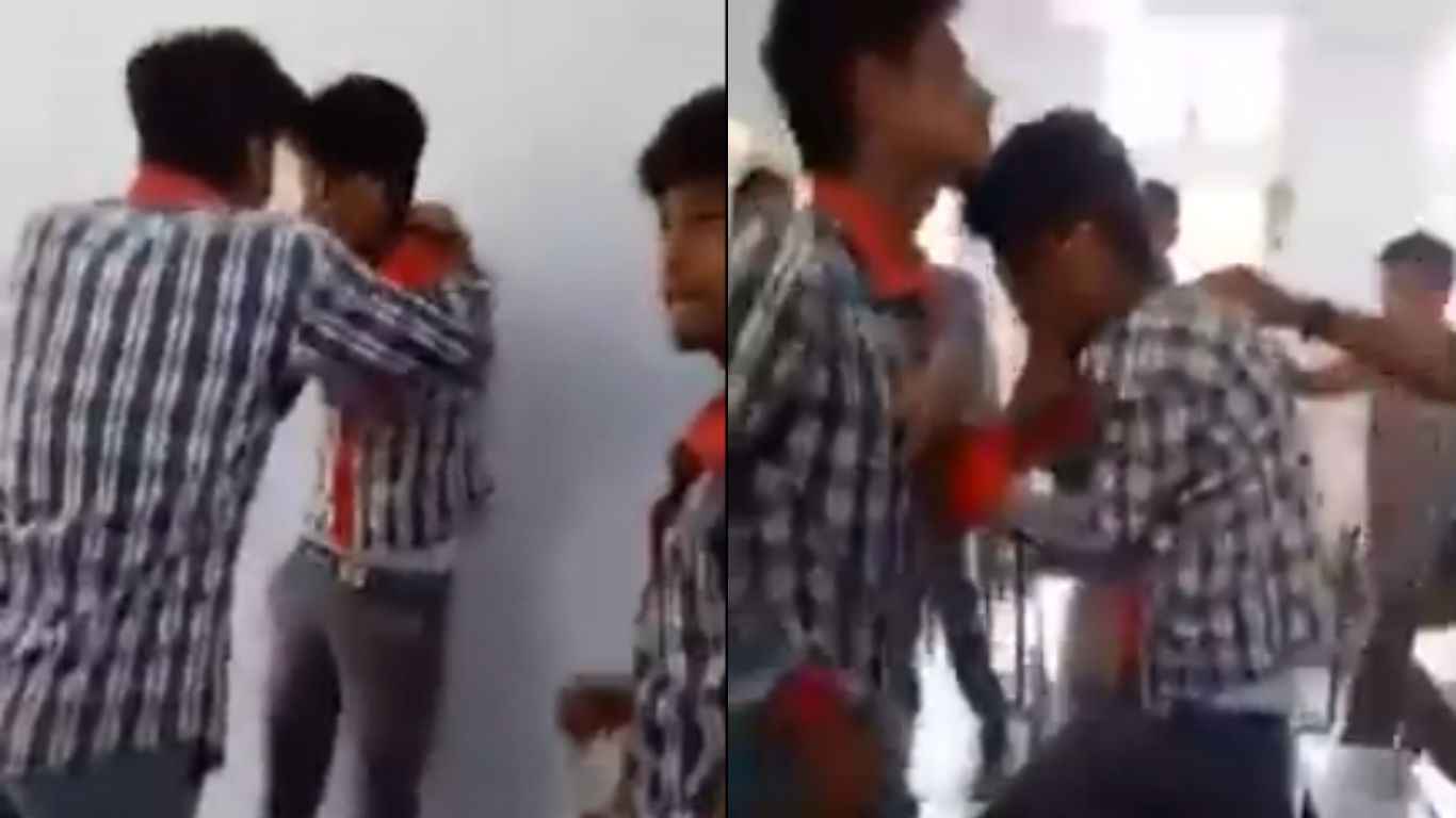 Kendriya Vidyalaya, students, beating, video