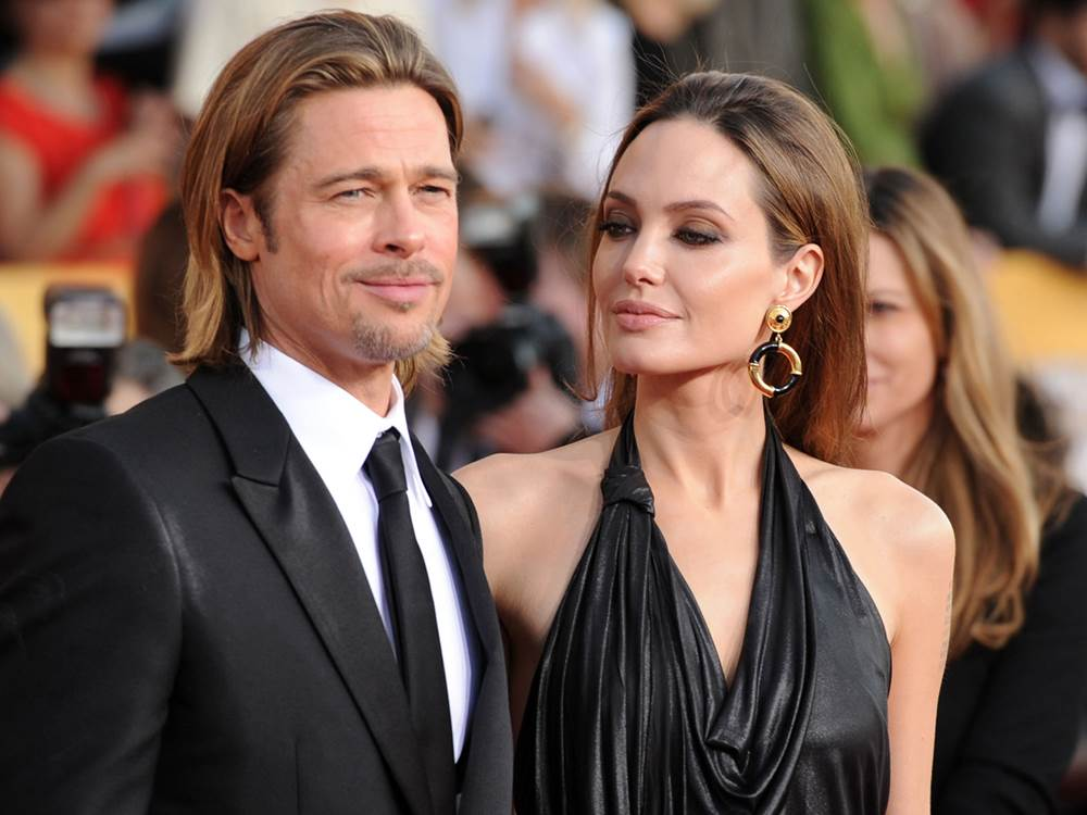 Angelina Jolie, Brad Pitt, tattoos, inklings, hollywood, actress, actor,