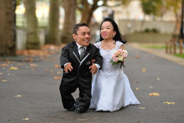 world s shortest couple gets married newsmobile