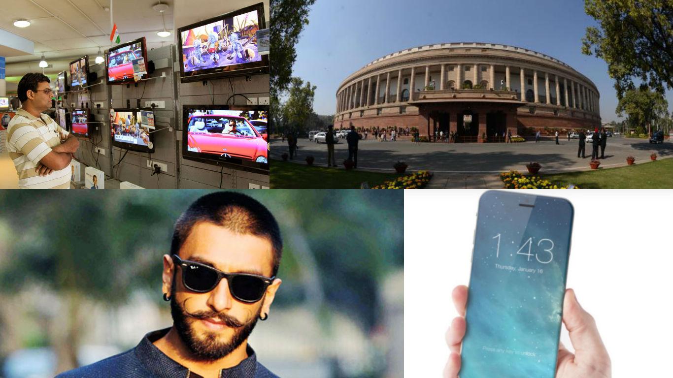 NewsMobile InstaBrief, Parliament, Demonetisation, TV rating, Prime Minister, Manmohan singh, ranveer singh