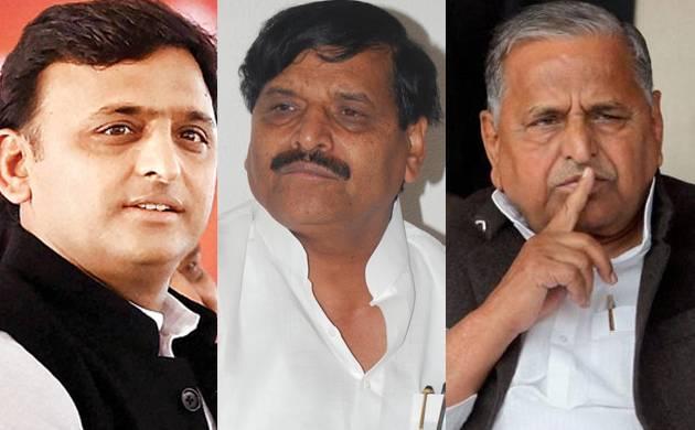 Shivpal Yadav,, Ramgopal Yadav, Mulayam Singh Yadav,, Akhilesh Yadav, Samajwadi Party,