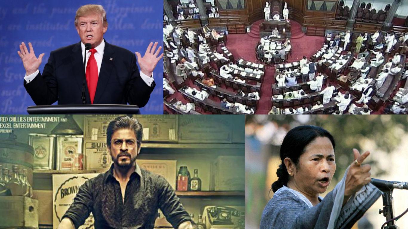 NewsMobile Mid-day wrap, Raees, Shahrukh Khan, Rajya Sabha, Lok sabha, parliament, army, west bengal, winter session, Donald trump, america, USA, News,