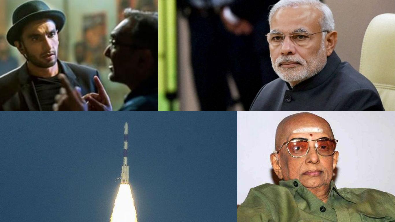 NewsMobile Mid-day wrap, Narendra Modi, prime minister, parliament, demonetisation, Indian navy, earthquake, Cho Ramaswamy, Ranveer Singh, Aditya Chopra