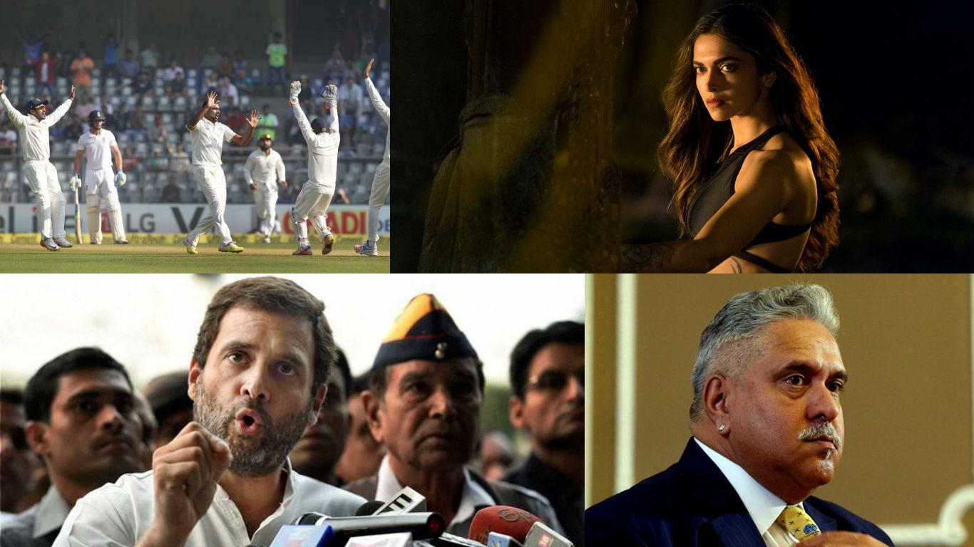 NewsMobile Mid-day wrap, Rahul Gandhi, congress VP, Vijay Mallya, twitter, test. India, England, test, deepika padukone