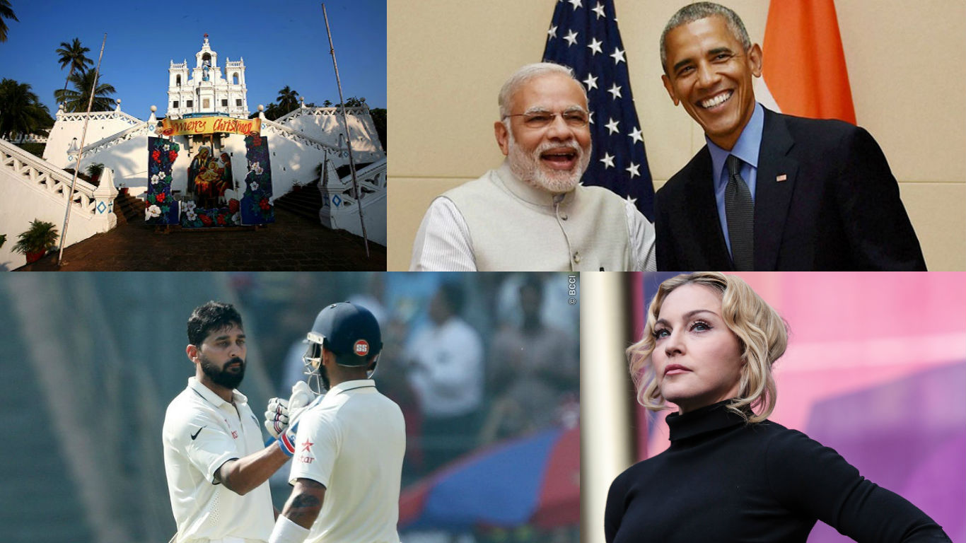 NewsMobile Mid-day wrap, Prime Minister, Narendra Modi, Obama, cricket, fourth test, england, india, medona, christmas