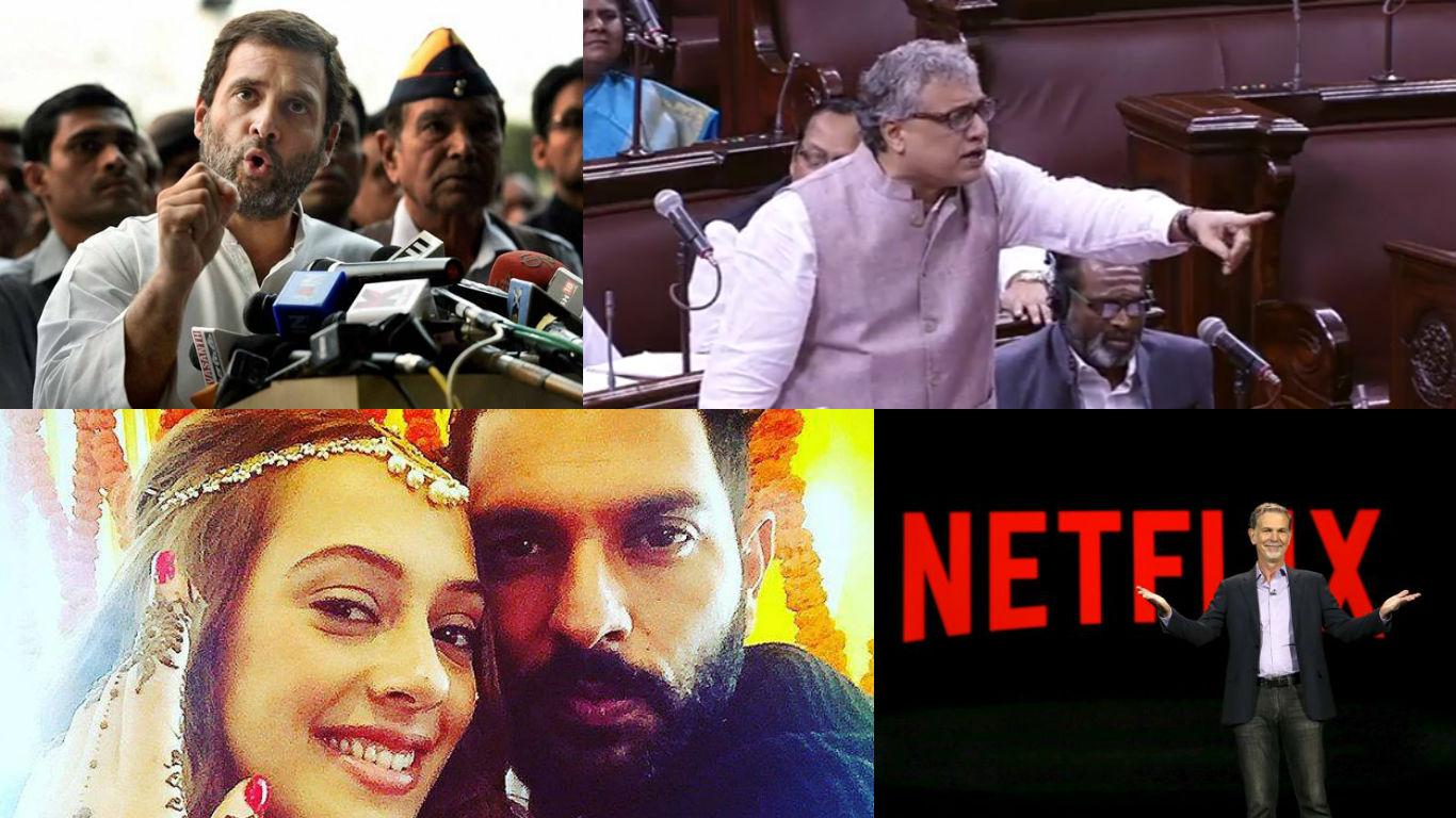 NewsMobile Mid-day wrap, Lok Sabha, Rajya Sabha, Parliament, Winter session, TMC, Rahul Gandhi, twitter, congress, Yuvraj Singh, Hazel Keech, Wedding, Netflix, Mercedes