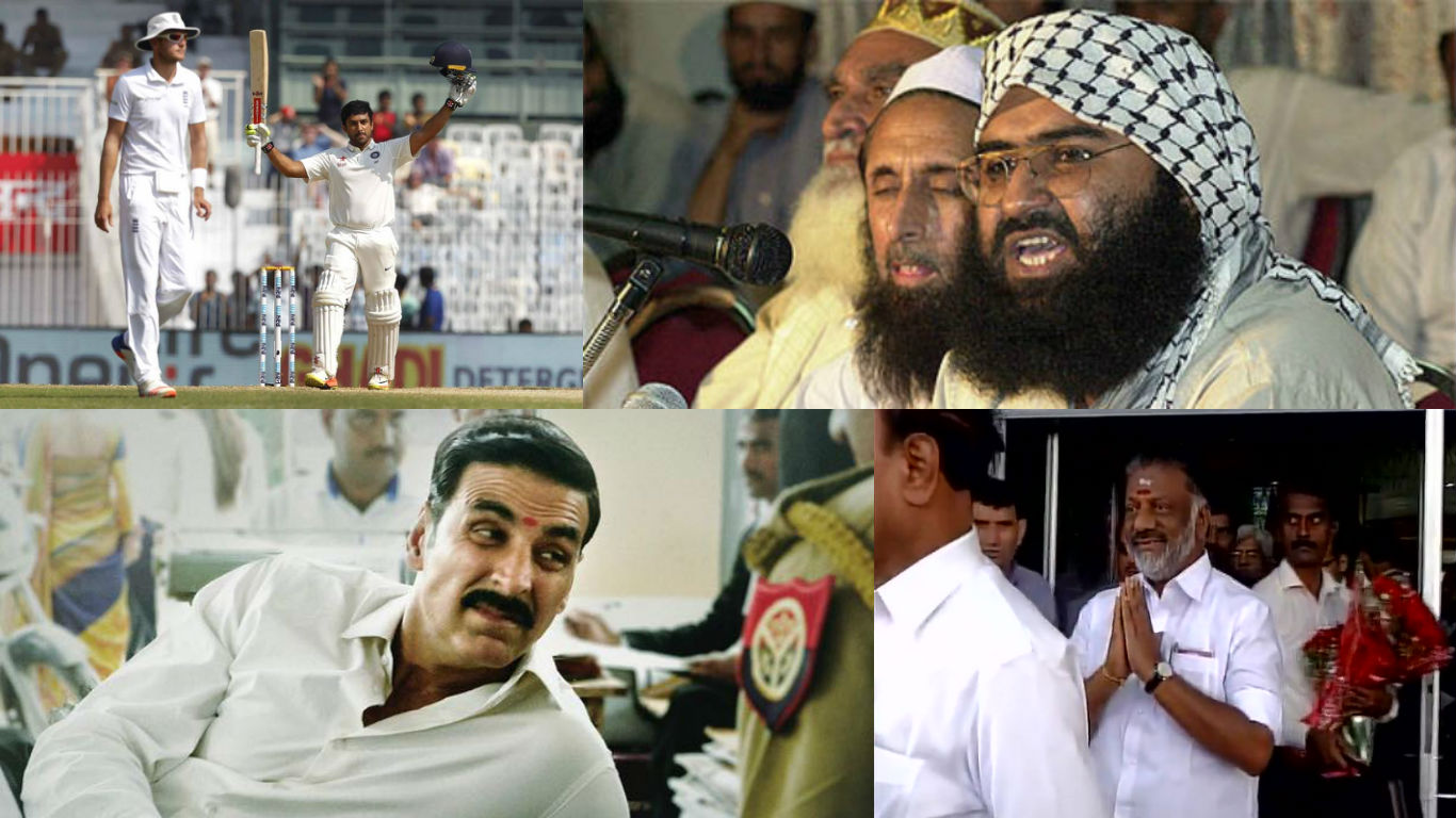 NewsMobile Mid-day wrap, JeM chief, Masood Azhar, Pathankot Attack, NIA, TN CM, Panneerselvam, India, England test, Chennai, Akshay Kumar, Jolly LLB 2