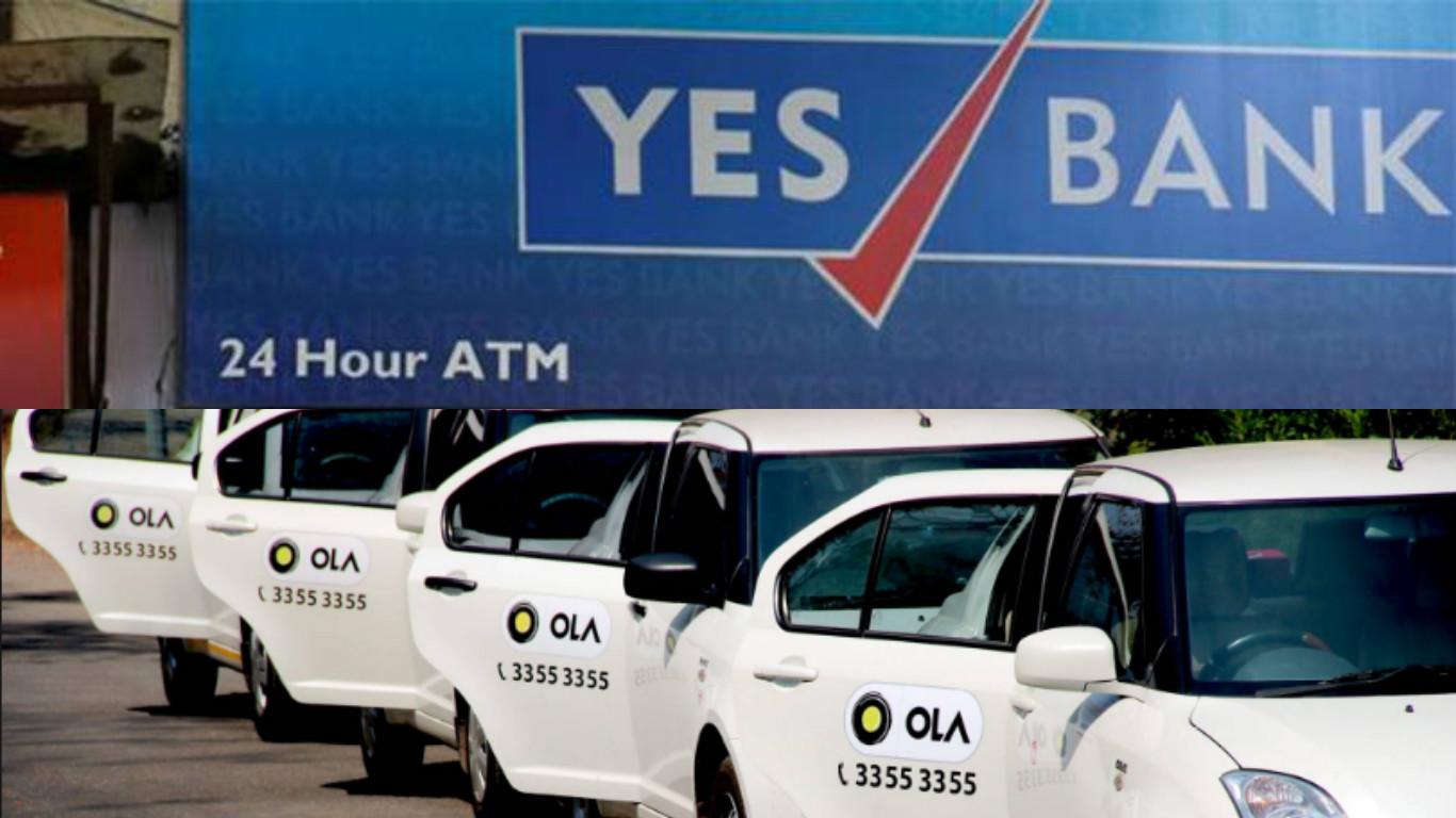 Yes Bank, Ola, Mumbai, Delhi, Bangalore, Chennai, Pune, Kolkata, Chandigarh, Ahmedabad, Hyderabad, Jaipur