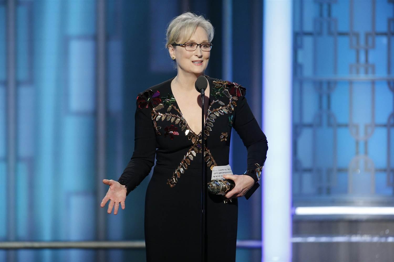 Meryl StreepX Democratic nominee Hillary ClintonX US President-elect Donald Trump