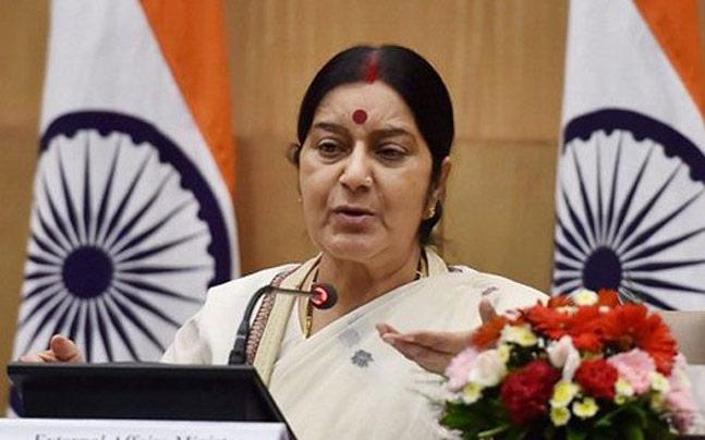 X External affairs minister Sushma SwarajX Andhra PradeshX TwitterX Rallapalli Rama Subba Rao and SubbalakshmiX passports.X abroad