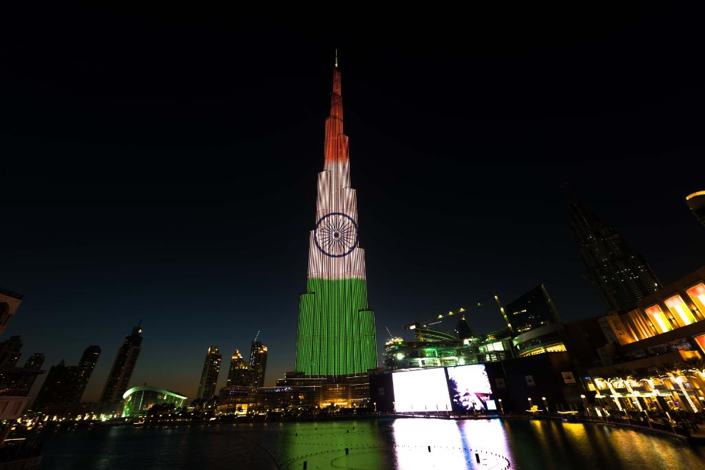 India's 68th Republic DayX the world's tallest buildingX Burj KhalifaX Dubai Fountain.X Crown Prince of Abu DhabiX Sheikh Mohammad Bin Zayed Al Nahyan