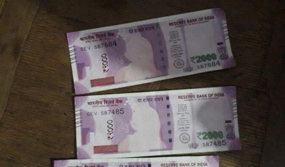 Badodha tehsil, Mahatma Gandhi. Sheopur district, Rs 2000 notes,