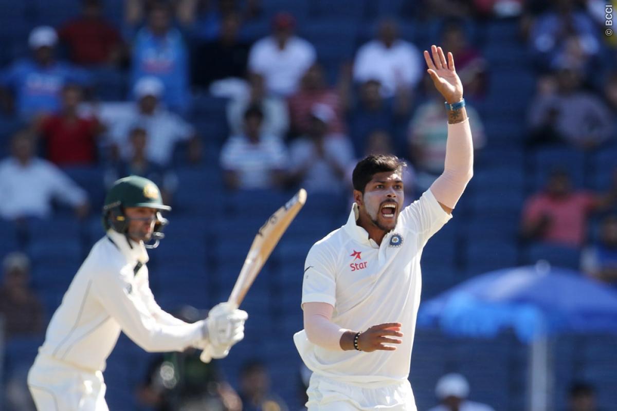 Umesh Yadav, First test, India, australia, Pune, 256, stumps, Mitchell Starc, Shane Warne, Virat Kohli