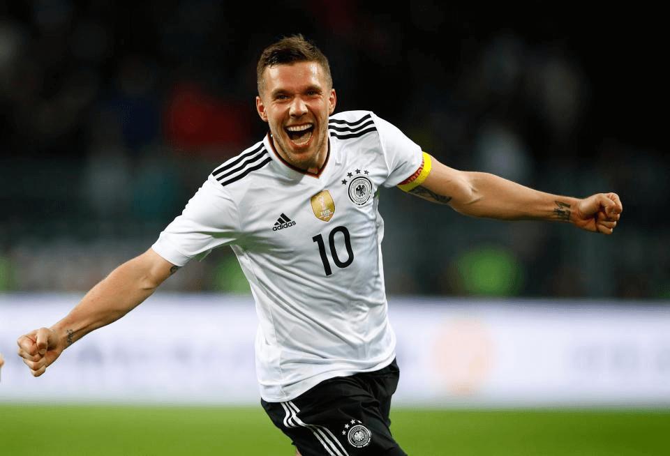 German football legend, Lukas Podolski, german, football, germany,
