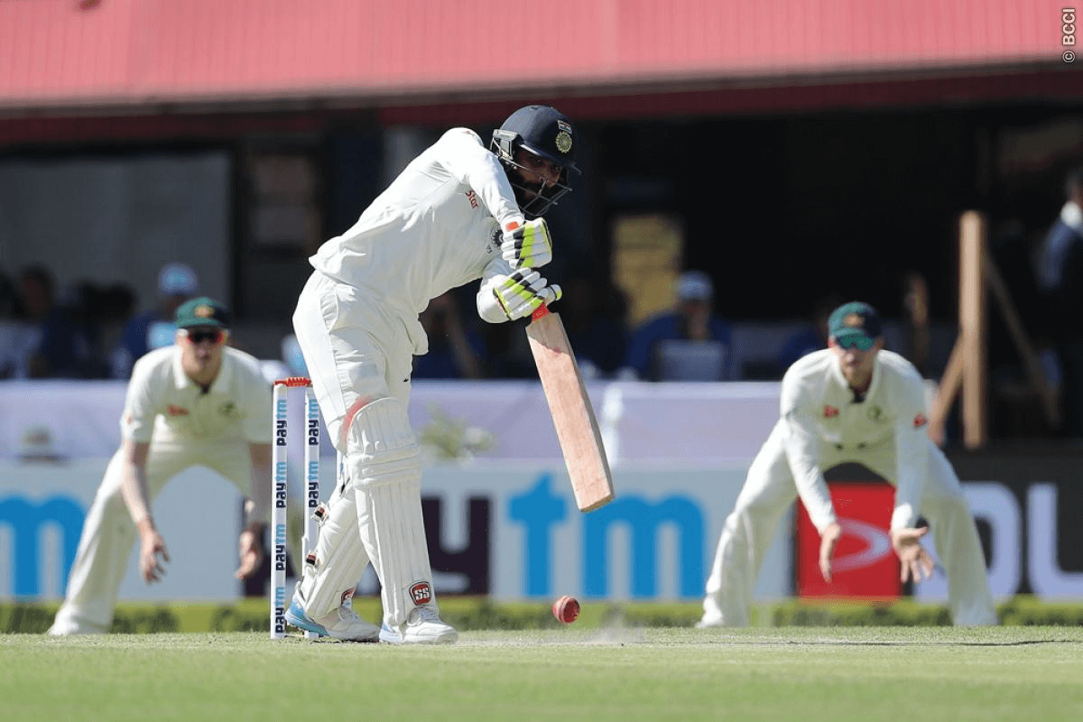 half-century, Ravindra Jadeja, 332, India, australia, cricket, dharamsala, steve smith