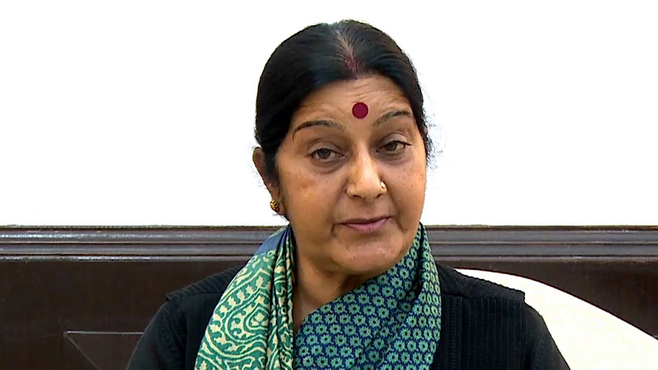 Donald TrumpX External Affairs Minister Sushma SwarajX New Delhi