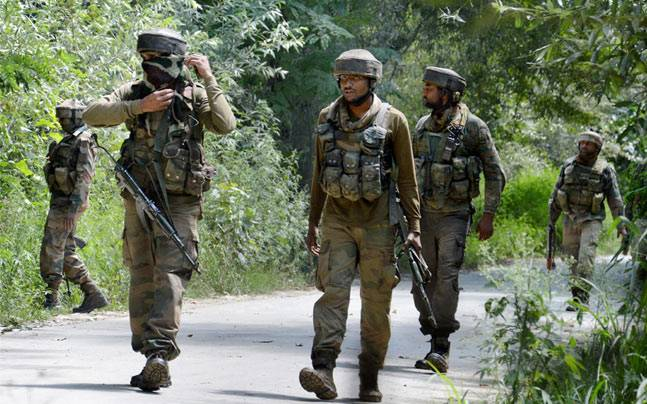 Encounter between security forces and militants in Awantipora area of Kashmir