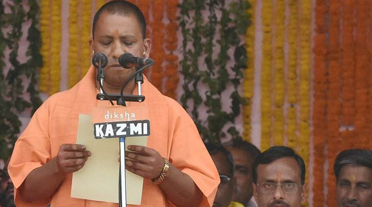 ,Uttar Pradesh, Chief Minister, Yogi Adityanath, 46-man Cabinet, Keshav Prasad Maurya, Public Works, Surya Pratap Shahi, Agriculture, Siddharth Nath Singh, Health, Mohsin Raza, Minority Affairs, Chetan Chauhan, Sports, Dinesh Sharma, Parliamentary Affairs, Swati Singh, Women Welfare, Rita Bahuguna Joshi: Secondary Education Swami, Prasad Maurya, Cooperative Department, Jai Prakash Singh, Excise