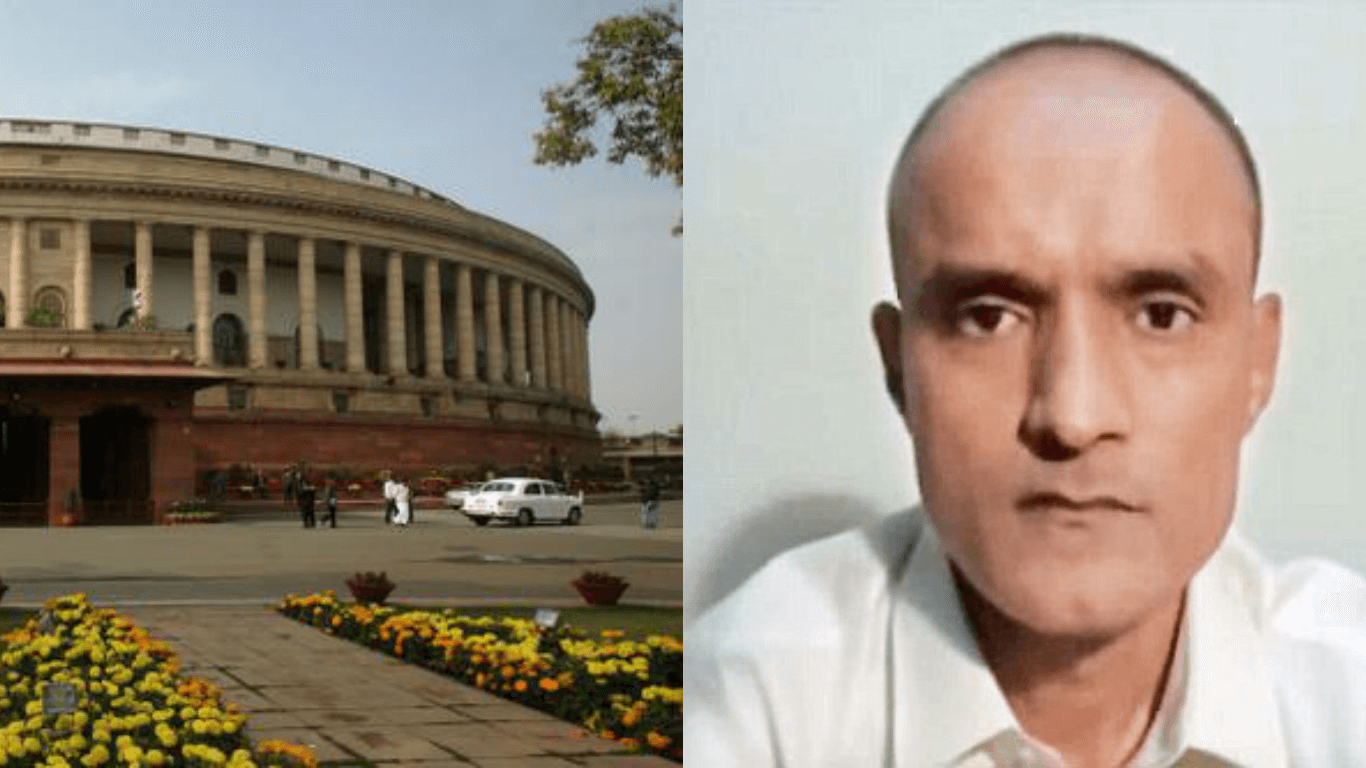 Indian Navy officer, Kulbhushan Jadhav, Parliament, government, opposition, Home Minister, Rajnath Singh, External Affairs Minister, Sushma Swaraj, Lok Sabha, Rajya Sabha, Mallikarjuna Kharge, Shashi Tharoor, Asaduddin Owaisi