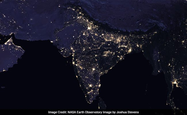 NASA, night lights, pictures, space pictures, India, world