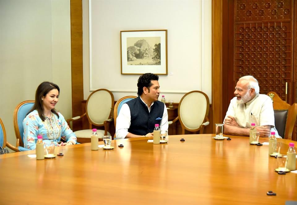 PM Modi, Sachin Tendulkar, most talked, Parliamentarians, 2017, Facebook, Prime Minister, Narendra Modi, Politics, NewsMobile, Mobile News, India