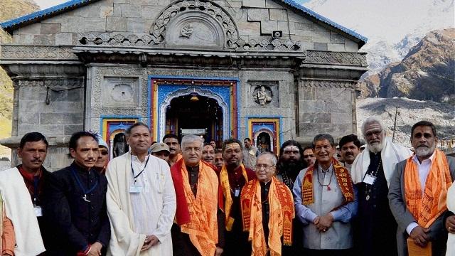 President, Pranab Mukherjee , Uttarakhand, Badrinath, , Ishwari Prasad Namboodiri, Uttarakhand, Governor, Krishna Kant Paul, Chief Minister, Trivendra Singh Rawat,