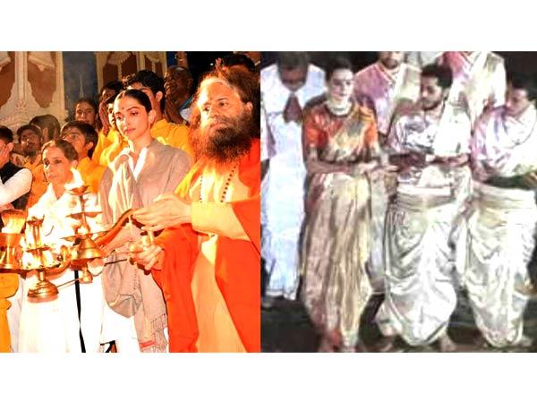 Kangana Ranaut performs Ganga Aarti