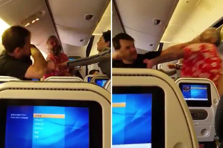 United Airlines, Tokyo, Narita Airport, Los Angeles, flight, brawl, passengers