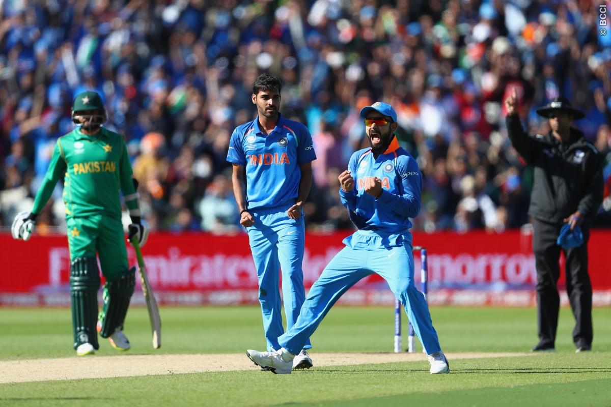 Champions Trophy, India, Sri Lanka, Kennington Oval, Virat Kohli, Pakistan, Virat Kohli (captain), Shikhar Dhawan, Rohit Sharma, Yuvraj Singh, Mahendra Singh Dhoni (wk), Kedar Jadhav, Hardik Pandya, Ravindra Jadeja, Jasprit Bumrah, Umesh Yadav, Bhuvneshwar Kumar, Mohammed Shami, Ravichandran Ashwin, Ajinkya Rahane, Dinesh Karthik, Angelo Mathews, Upul Tharanga, Dinesh Chandimal, Niroshan Dickewalla, Danushka Gunathilaka, Kusal Mendis, Kusal Perera, Thisara Perera, Sekkuge Prasanna, Nuwan Pradeep, Suranga Lakmal, Lakshan Sandakan, Lasith Malinga, Asela Gunaratne, Nuwan Kulasekara