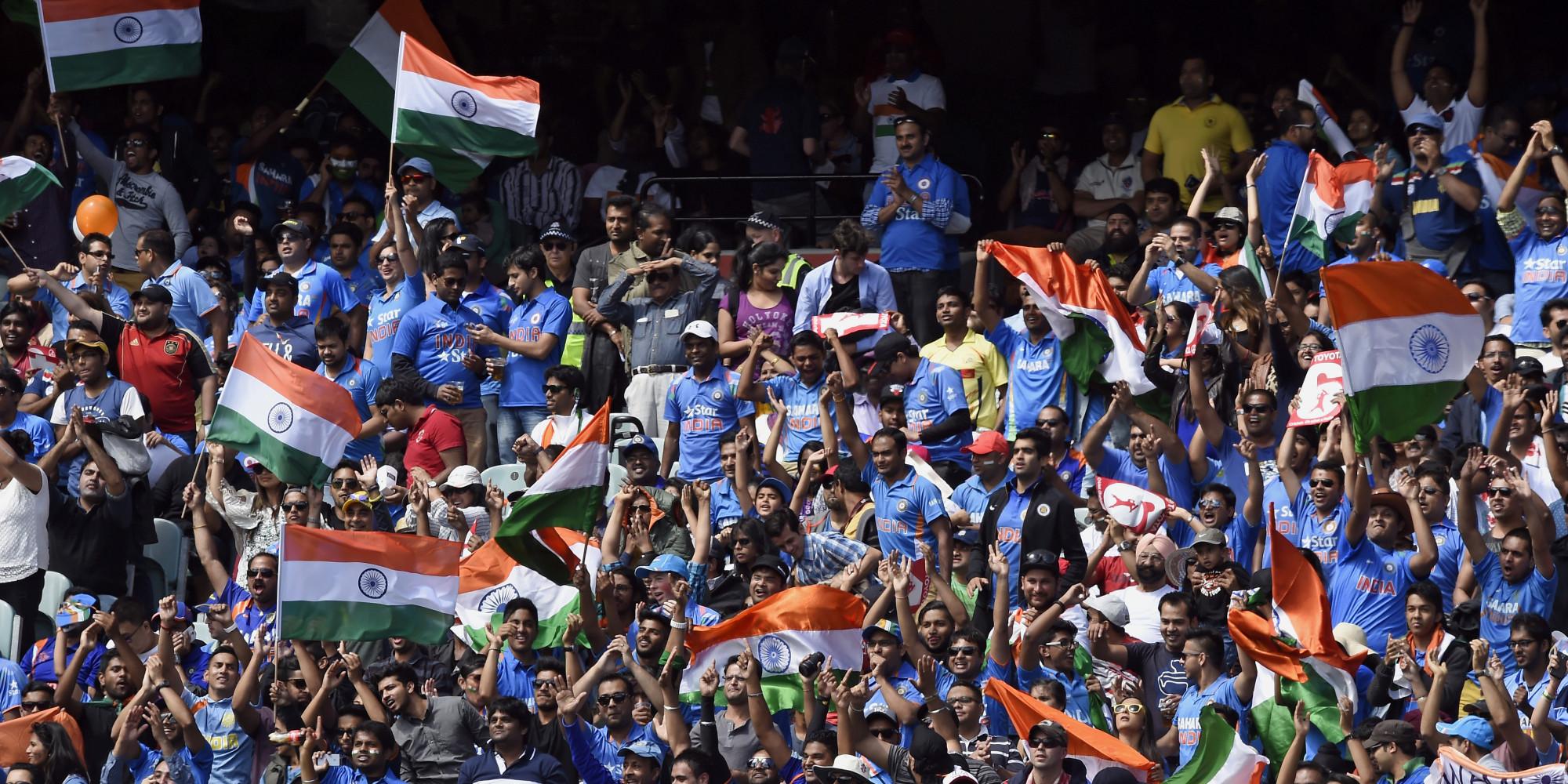 Image result for Indian Cricket fans AP
