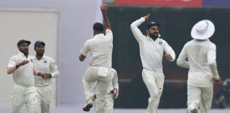 India, Sri Lanka, Cricket, Angelo Mathews, Dinesh Chandimal, Ravindra Jadeja, Mohammad Shami, Test, Feroz Shah Kotla, Delhi