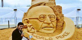 Sand artist, Sudarsan Pattnaik, thrashed, hospitalized, NewsMobile, City Scape, Mobile news, India
