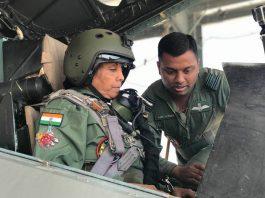 Defence Minister, Nirmala Sitharaman, undertake, sortie, IAF Sukhoi, Jodhpur, Rajasthan, NewsMobile, Mobile News, India