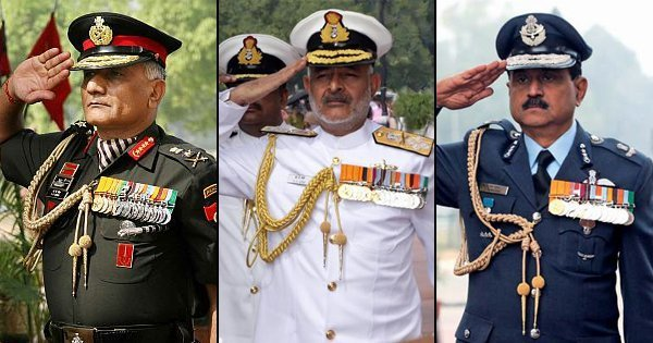 Here's why the Indian Army, Navy and Air Force salute in a ...