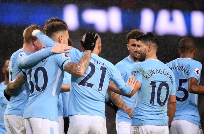 Raheem Sterling, Sergio Aguero, David Silva. Manchester City, Watford, Football, Raheem Sterling