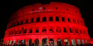 Colosseum, Rome, Colosseum lit red, blasphemy law, Pakistan, Pakistan blasphemy law, Pope Francis, Asia Bibi, death row, Pak genocide, Catholic Church, European Parliament President, Antonio Tajani,