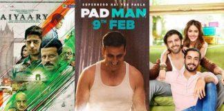 Bollywood, Movies, February, PadMan, Aiyaary, Sonu ki titu ki sweety, Welcome to New York, Dil Junglee, NewsMobile, Entertainment