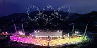 Winter olympics, South Korea, Intel, World record, PyeongChang, Light and sound show