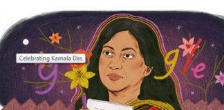 kamala Das, Indian writer,Sahitya Academy award, India, Google, doodle