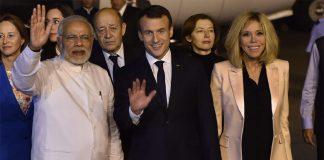 Indian Prime Minister,Narendra Modi, PM Modi,Emmanuel Macron, French President,Rashtrapati Bhawan,Ram Nath Kovind,Sushma Swaraj,New Delhi, Indo-French relations,