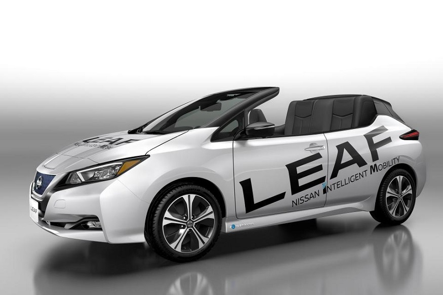 All-electric, convertible, Nissan, Leaf, unveil, Car, NewsMobile, Mobile news, India, Auto